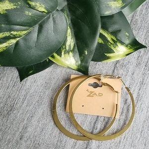 ZAD Uptown Boho gold large round hoop earrings